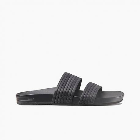 Reef Cushion Bounce Slide Slippers Black