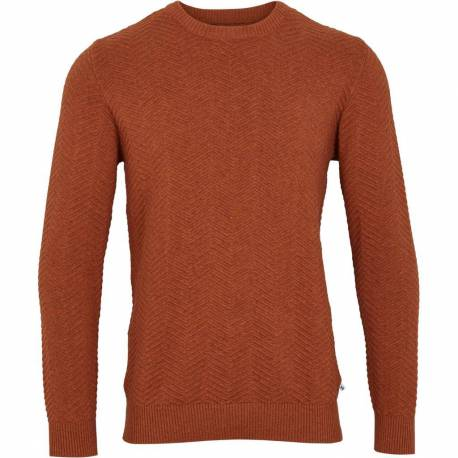 Kronstadt Herring bone round-neck knit Brick Melee