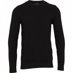 Kronstadt Carlo Cotton Knit Heren Sweater Black