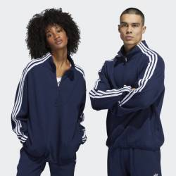 Adidas Terry Track Top Gender Neutral Sweatshirt Navy White
