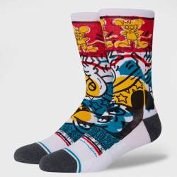 Stance Primary Haring Mickey Mouse Sokken Wit Multi Uniseks