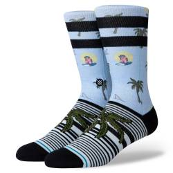 Stance Aloha Monkey Staple Light Blue Multi Sokken
