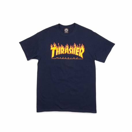 TRASHER Flame Tee Navy Blue