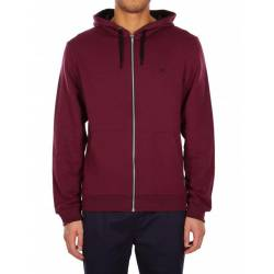 Iriedaily Mini Flag Zip Hoodie Maroon Black for Men