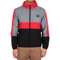 Iriedaily Prime Hood Jacket Black Red for Men