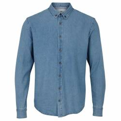 Kronstadt Johan Denim Shirt - Light Blue