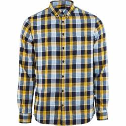Kronstadt Johan Pocket Flannel Check - Burned Yellow