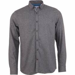 Kronstadt Johan Herringbone flannel shirt - Black Grey
