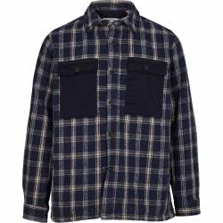 Kronstadt Oliver Check Overshirt Jacket - Navy
