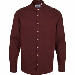 Kronstadt Dean Diego Cotton henley shirt - Bordeaux S