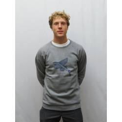 Bask In The Sun Flying Fish Sweater Grey